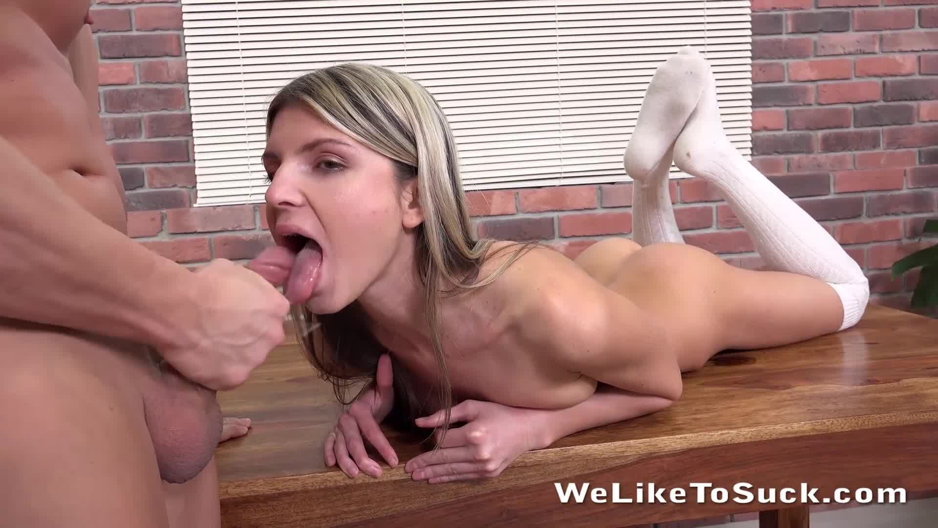 Petite Blonde Teen Gina Gerson Getting Her Pussy And Mouth Fucked